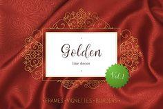 Golden Line Decor Vol.1 by O'Gold! on @creativemarket