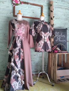 Model Dress Kebaya, Dress Batik Kombinasi, Muslimah Wedding Dress, Batik Fashion, Batik Dress, Dress Sewing Patterns, Muslim Fashion, Designer Dresses, Fashion Dresses