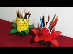 Pen Holder - How To Make Attractive Pen Holders With Plastic Bottles Specially For Kids | - YouTube