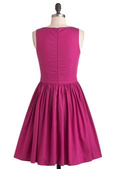 Honey-Dipped Cookies Dress in Magenta, #ModCloth