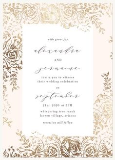 Wedding Invitations - Select printing options and begin customizing your card for design 61174 Home Wedding, Wedding Story, Plan Your Wedding, Different Wedding Ideas, Wedding Stationery Inspiration, Blush Wedding Invitations, Colorado Wedding Venues, Wedding Table Settings, Wedding Cards