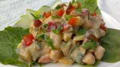 This looks really good!  Indian Chickpea Potato Salad from Kathy Hester via @Key Ingredient