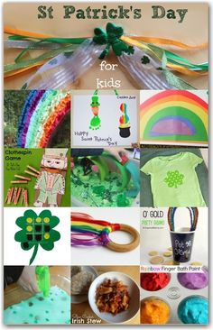 Fun and colourful St Patrick& Day Activities for kids Rainbow Activities, Holiday Activities, Craft Activities For Kids, Preschool Activities, Crafts For Kids, Party Activities, St Patrick's Day Crafts, Holiday Crafts, Holiday Fun