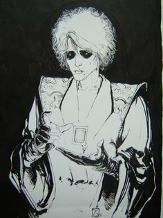 drawing of Daniel from Sandman by Michael Zulli