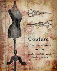 Laminas decoupage: Costura