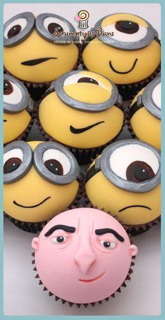 Minion and gru cupcakes