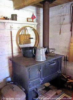How to cook on a wood burning stove.