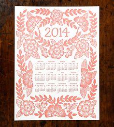 2014 Letterpress Calendar