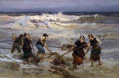 Seaweed+Gatherers+-+Frederick+A+Bridgman.jpg (1600×1057)