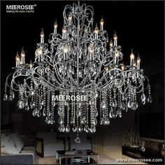 Find More Chandeliers Information about Large 28 Arms Wrought Iron Chandelier…