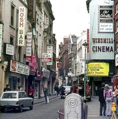 Great Windmill Street in Soho, 1974