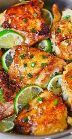 Best Chicken Thigh Recipe, Chicken Thigh Recipes Oven, Baked Chicken Recipes, Oven Chicken, Roasted Chicken, Oven Baked Chicken Thighs, Cracker Chicken, Chicken Appetizers, Recipe Chicken