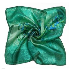 Find More Scarves Information about [LESIDA]High Quality 100% Silk Scarf Painted Flowers Scarf Women Green Square ScarfXF88024,High Quality scarf bandana,China scarf wholesaler Suppliers, Cheap scarf free knitting patterns from LESIDA Store on Aliexpress.com