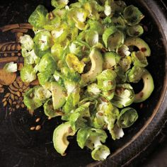 Brussels Sprout Salad with Avocado and Pumpkin Seeds - Whole Living Eat Well