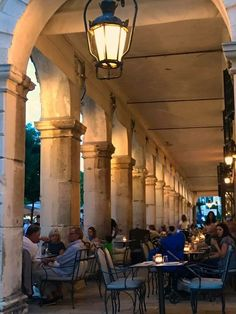 The Listern in Corfu Town Corfu Greece at Early Evening