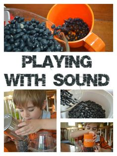 Experiments with Sound for your toddler using things you can find in your kitchen