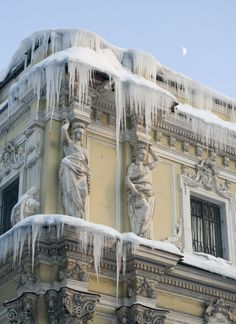 Icicles on the old Salt Warehouse in St Petersburg @Maegan Griffith you're in for a treat!