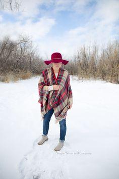 DIY blanket scarf vest