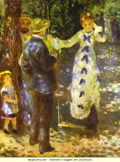 Pierre-Auguste Renoir. The Swing. 1876. Oil on canvas. Musée d'Orsay, Paris, France