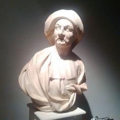 Orazio Marinali (Angarano, 1643 – Vicenza, 1720)  Portrait bust of Balanzone (Commedia dell'Arte Character)  White Carrara marble,  cm. 62 x 26 x 80 – in. 24x10x31