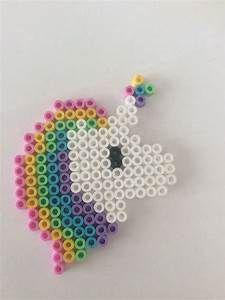 Hama bead Rainbow unicorn 18x15 … | Pinteres…