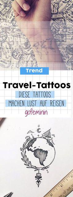 Wanderlust & Fernweh: Diese kleinen Travel-Tattoos machen Lust aufs Reisen