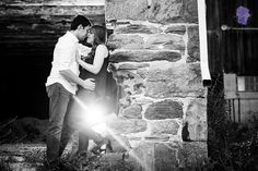 Fun outdoor engagement session barn.