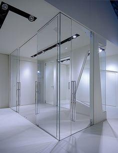 Sistemi Raso Parete, Amplia, porta vetro, Made Expo