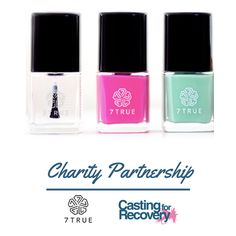 7TRUE lets you feel beautiful inside and out, by creating products and cosmetics safe for everyone while giving back to women and environmental causes. Select Casting for Recovery as your preferred charity at checkout and CfR will received a percentage of the proceeds.