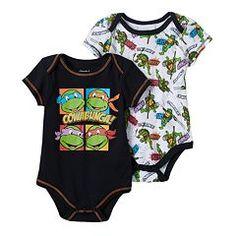 """Teenage Mutant Ninja Turtles 2-pk. """"Cowabunga!"""" Bodysuits - Baby Boy"""