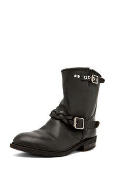 GOLDEN GOOSE  Short Biker Boot in Black  $1,065