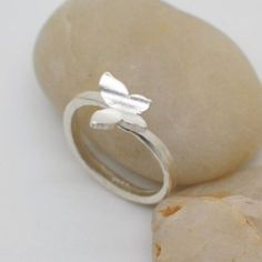 Sterling Silver Butterfly Ring Handmade 925 Silver by HXStudio, $38.00