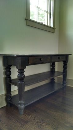 Versatile sideboard/console table Custom Handcrafted from 200 year old RECLAIMED PINE