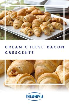Enjoy these savory Creamy Bacon Crescents. Be sure to grab one of these bacon crescents with cream cheese right out of the oven—they disappear fast! Breakfast Dishes, Healthy Breakfast Recipes, Best Breakfast, Breakfast Options, Breakfast Time, Cream Cheese Crescent Rolls, Crescent Roll Recipes, Cream Cheese Spreads, Cream Cheese Recipes