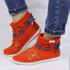 Магазин мастера Мадам Сапожок Ксения: обувь ручной работы, обучающие материалы Knit Shoes, Crochet Shoes, Crochet Slippers, Sock Shoes, Crochet Clothes, Slipper Sandals, Slipper Socks, Shoes Sandals, Crochet Boots Pattern