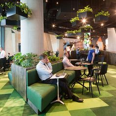 NAB Co-Working Village by Woods Bagot, using Tretford Tiles.   Photography by Shannon McGrath.