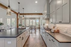 Texas Hill Country Farmhouse - All Over Solutions Country Interior Design, Country House Design, Country Kitchen Designs, Concrete Floors In House, Concrete Kitchen Floor, Hill Country Homes, Texas Hill Country, Ranch House Remodel, Texas Farmhouse