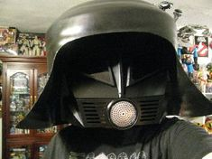 Spaceballs Dark Helmet Costume: - Plastic Waste Paper Basket - Drain Cover - Grate   -Paint - And Your Imagination!