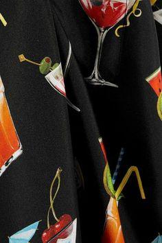 Dolce & Gabbana - Printed Silk-twill Shirt - Black - IT48
