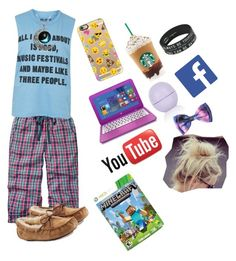"""""""LAZY DAY """" by larissa7703 ❤ liked on Polyvore featuring moda, Fat Face, Topshop, Casetify e UGG Australia"""