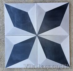 Large Cubes cement tile, from Villa Lagoon Tile. These tiles can be arranged in many ways.