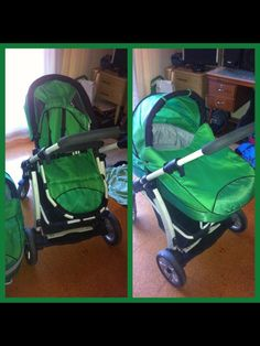 """New"" stroller for bubby.....it's GREEEEEN!!!!! :-)"