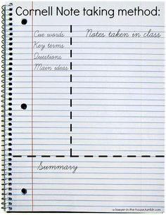 Studyblr — a-lawyer-in-the-house:  Note-taking tips -Three...