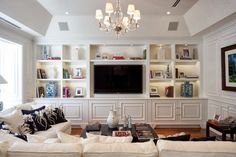 Built in wall units for living rooms beautiful home entertainment centers ideas for the better life Living Room Shelves, Home Entertainment Centers, Traditional Family Rooms, Home, Room Remodeling, Built In Cabinets, Living Room Built Ins, Family Room, House