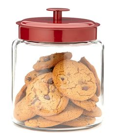 Another great find on #zulily! Red Mini Montana 96-Oz. Jar by Anchor Hocking #zulilyfinds