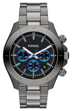 Fossil 'Retro Traveler' Chronograph Bracelet Watch, 45mm | Nordstrom