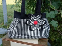 cute houndstooth purse