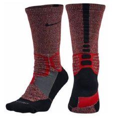 New Nike Hyper Elite Basketball Socks Mens Size 6-8 Black & Red Crew #Nike #Athletic