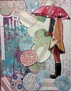 Art Journaling  ¿Dónde está la casa de una bruja?  Maybe on her mind, full colored mind...