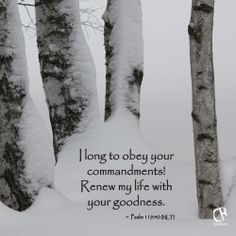 I long to obey your commandments! Renew my life with your goodness. ~ Psalm 119:40 #NLT #Bible verse | CrossRiverMedia.com